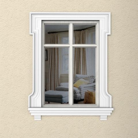 Обрамление окна из пенопласта