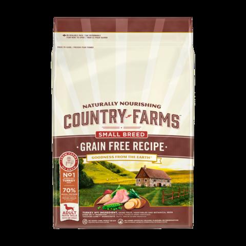 Country Farms Grain Free Recipe Сухой корм для взрослых собак мелких пород, с высоким содержанием индейки беззерновой, полнорационный