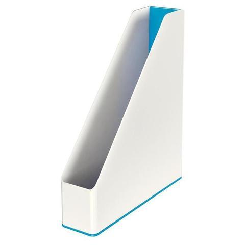 Вертикальный накопитель Leitz Wow пластиковый белый ширина 73 мм
