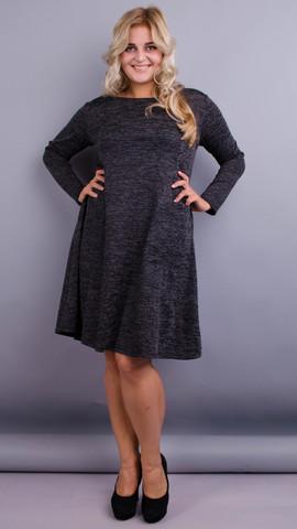 Альбіна. Повсякденна сукня великих розмірів. Графіт.