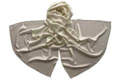 Женский хлопковый белый палантин (2551 PAL 1)