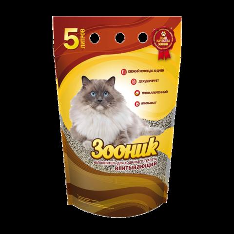 Зооник Наполнитель для туалета кошек впитывающий