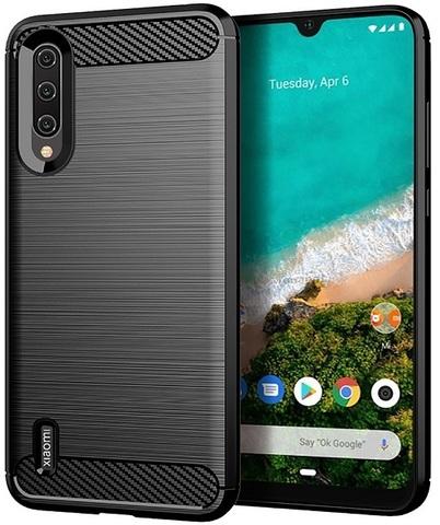 Чехол для Xiaomi Mi A3 (CC9E) цвет Black (черный), серия Carbon от Caseport
