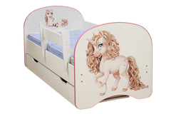 Кровать детская с фотопечатью Единорог