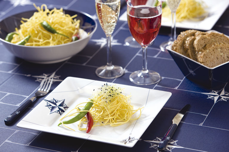 MELAMINE SQUARE DINNER PLATE, NORTHWIND