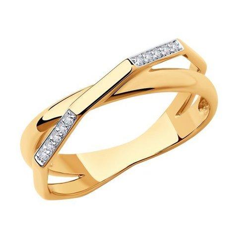 1011865 - Кольцо из золота с бриллиантами