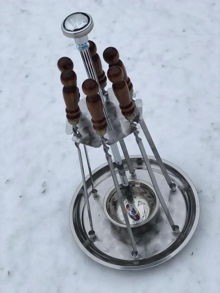 Посуда для подачи шашлыка Поднос с подогревом для 6 шампуров 45 см 0MoTRqbHnOA.jpg