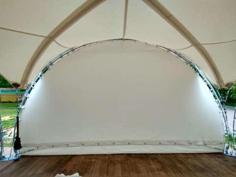 Стена ПВХ «Сплошная» цвет - белый 6 м