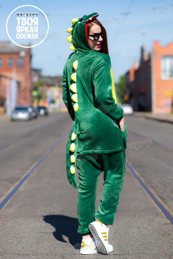 Пижамы кигуруми Динозавр зеленый dragon.jpg