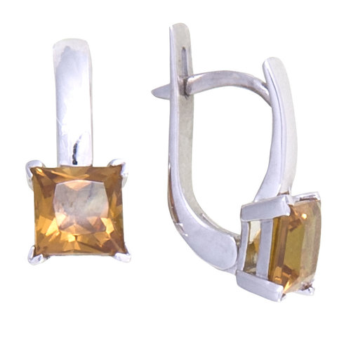 Серьги из серебра с султанитом Арт.2218с
