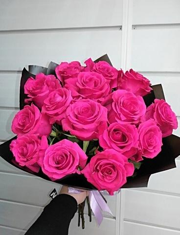 15 эквадорских розовых роз 60 см #14257