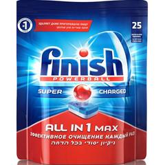Таблетки для посудомоечных машин Finish Powerball All in 1 Max (25 штук в упаковке)