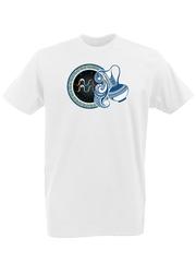 Футболка с принтом Знаки Зодиака, Водолей (Гороскоп, horoscope) белая 0005