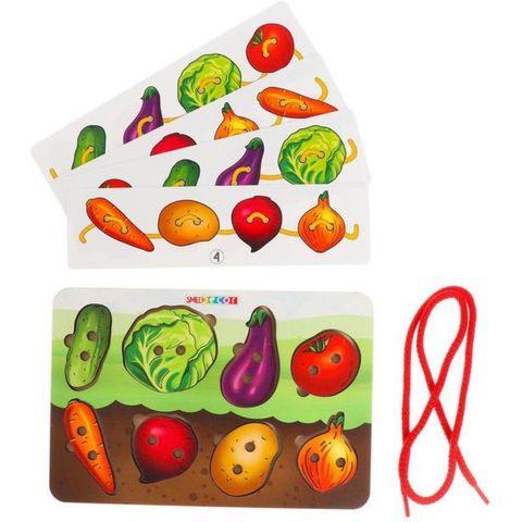 Развивающая игра шнуровка Овощи, Smile Decor, арт. П623