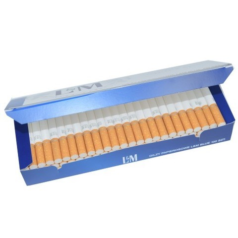 Сигаретные гильзы LM (синие) -100 шт.