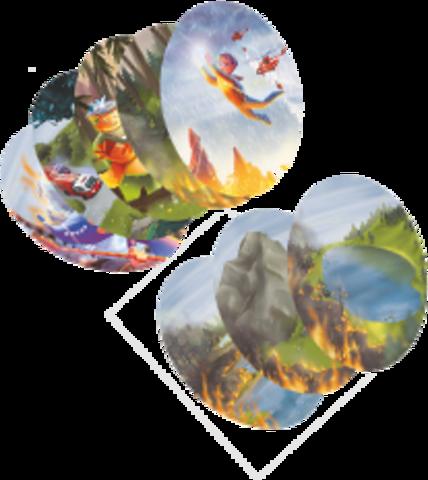 Набор фишек: «естественные препятствия для огня» и «способы борьбы с лесным пожаром»