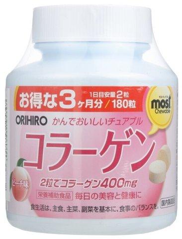 БАД Коллаген со вкусом персика ORIHIRO 180 таблеток