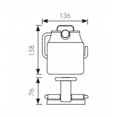 Держатель для туалетной бумаги KAISER Vera KH-1700 схема