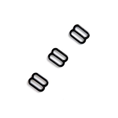 Регулятор для бретели черный 12мм (металл)