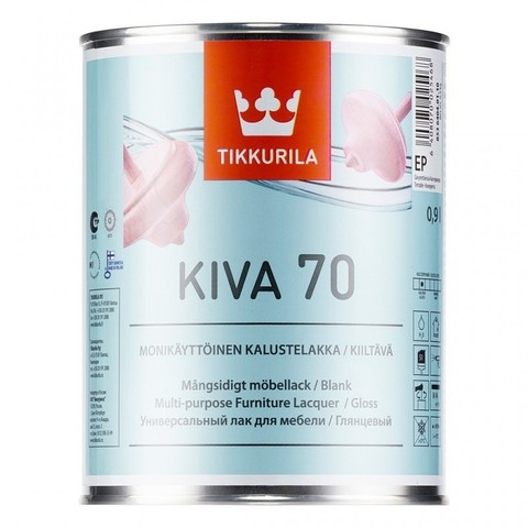 Tikkurila Kiva 70 / Тиккурила Кива лак для мебели глянцевый