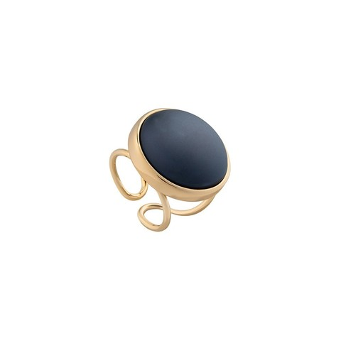 Кольцо Pearl Black Agate 16.5 мм K0948.4 BW/G