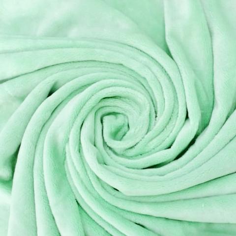Плюш односторонний зеленый (отрез 105х160) см