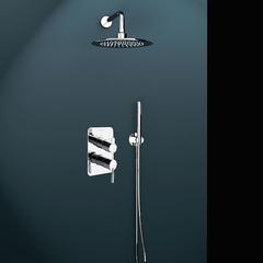 Встраиваемый смеситель для душа с душевым комплектом ATICA K7515021 на 2 выхода