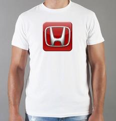 Футболка с принтом Honda (Хонда) белая 04