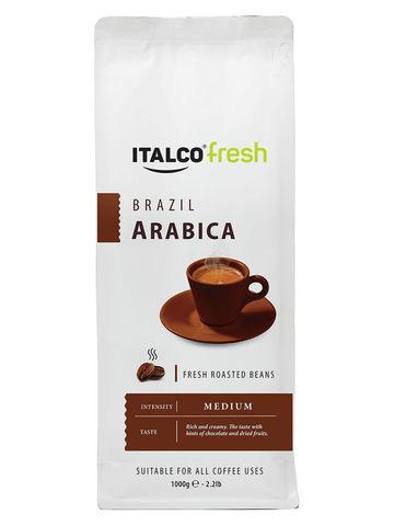 Кофе Italco Arabica Brazil (Арабика Бразилия) зерно, 1000гр,