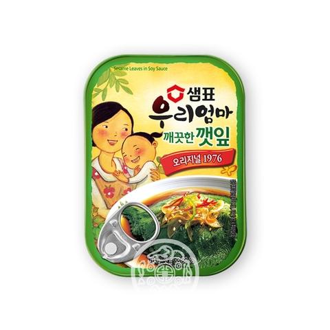 Листья кунжута  в соевом соусе 70г Sempio Foods Company Корея
