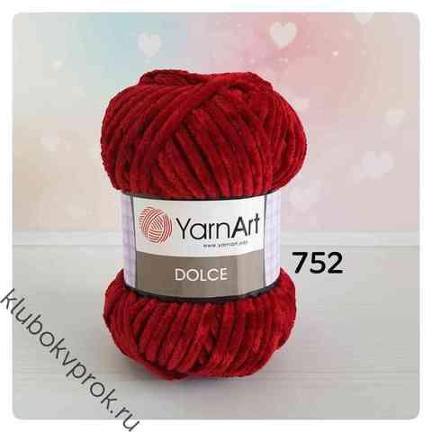YARNART DOLCE 752, Бордовый