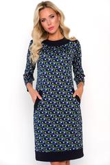 <p>Хит сезона! Шикарное платье на каждый день! Модель выполнена из мягкого трикотажа, прямой силуэт, рукав 3/4, функциональные карманы. Отличный офисный вариант.</p>
