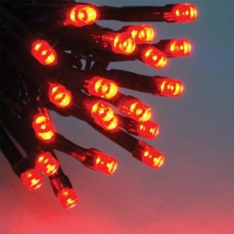 Гирлянды нити по 10 метров красный цвет 100 led