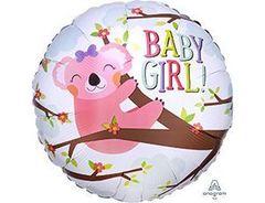 А 18''/46см, Круг, BABY GIRL Коала девочка, розовый.