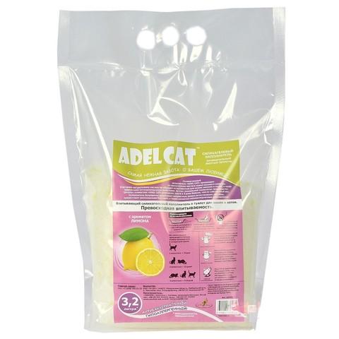 Наполнитель Adel cat силикагель универсальный ЛИМОН желтые гранулы 3,2л