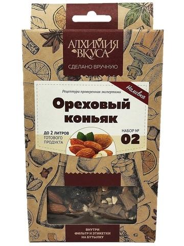 С набором для приготовления наливки «Ореховый коньяк