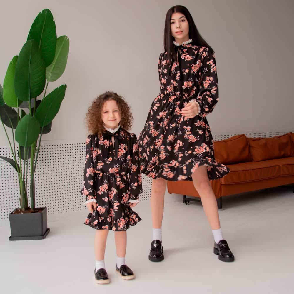 Дитяче, підліткове плаття з довгим рукавом для дівчинки
