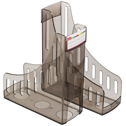 Вертикальный накопитель Attache пластиковый черный ширина 100 мм (2 штуки в упаковке)