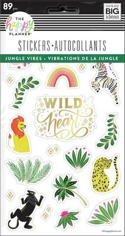 Блокнот со стикерами для ежедневника Jungle Vibes - 5 Sticker Sheets -89 шт