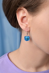 Серьги Perla Cubо голубые