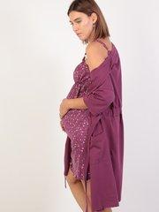 Euromama/Евромама. Комплект для беременных и кормящих лиловый, рукав 3/4 вид 3