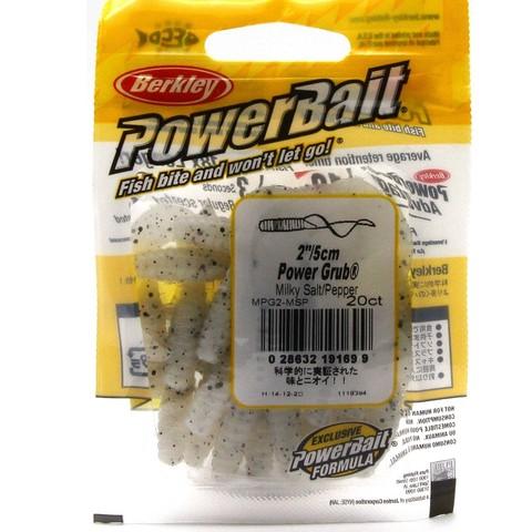 Приманка силиконовая Berkley Powerbait Power Grub MPG2-MSP Milky Salt Pepper 2