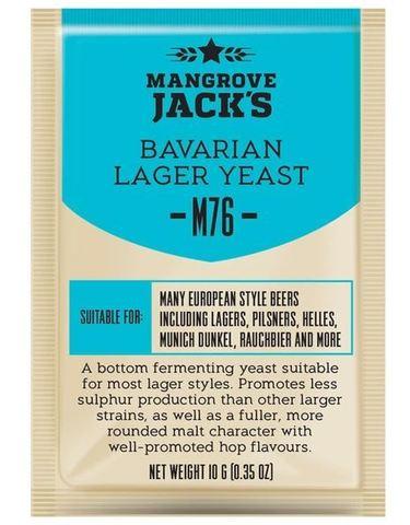 Пивные дрожжи Мangrove Jack's Bavarian Lager M76, 10 гр