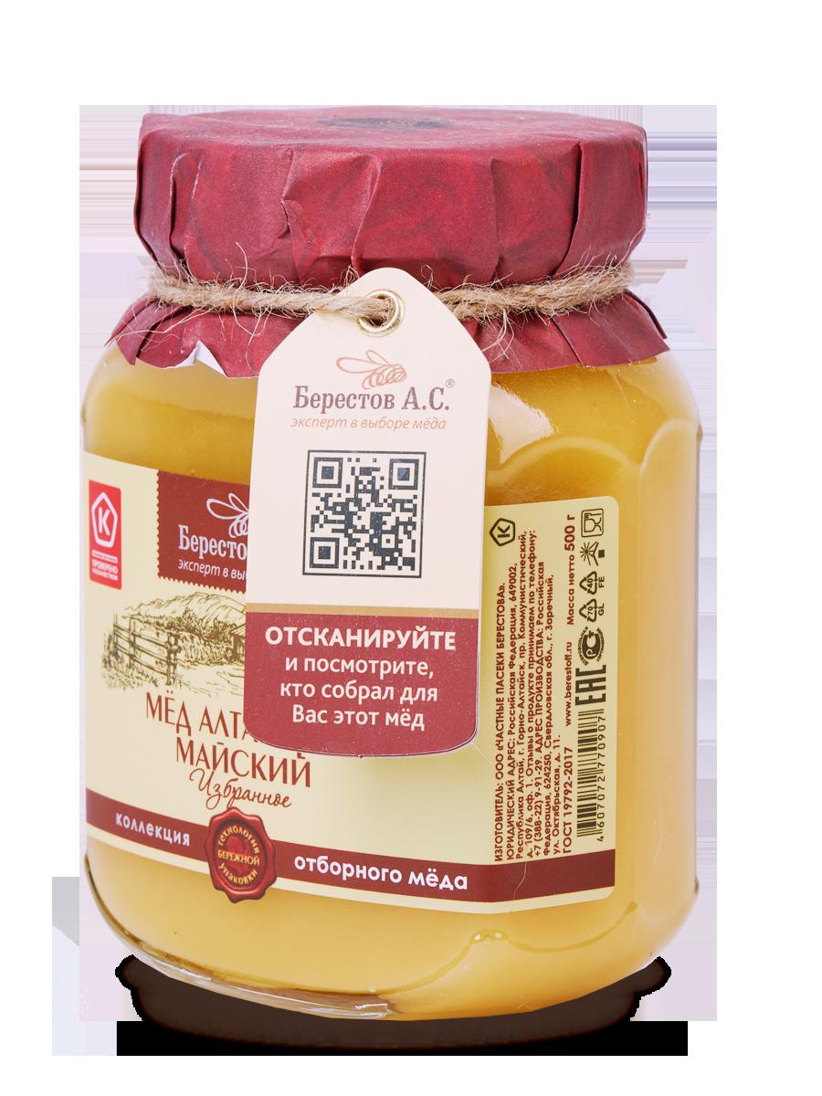 Мед Избранное Майский/ стекло 500 г Мёд