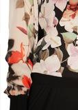 Свитшот из шелка и трикотажа ROBERTO CAVALLI