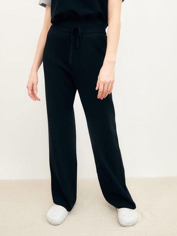 Женские брюки черного цвета из вискозы - фото 3