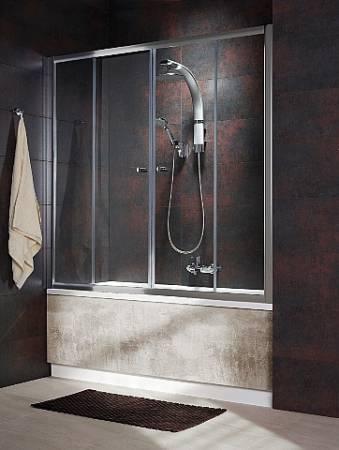 Шторка для ванны Vesta DW 1800*1500 хром/крапинка/5мм 203180-06