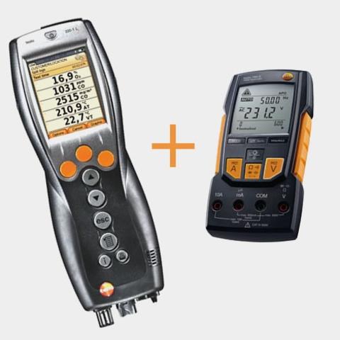 Портативный газоанализатор Testo 330-1 LL NOx BT+мультиметр Testo 760-2 с магнитным креплением, кейс, Описание Testo 330-1 LL NOx BT+мультиметр Testo 760-2 (арт: 0563 3312)