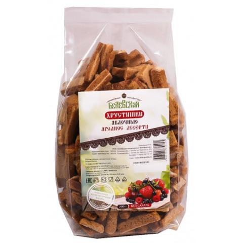 Хрустишки Белёвские яблочные с ягодами без сахара, 200 г