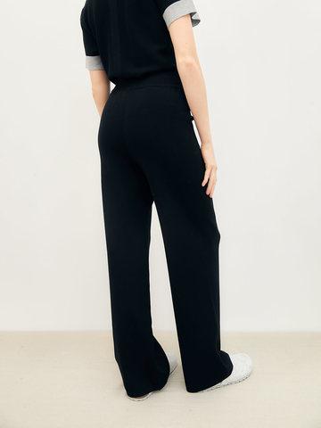 Женские брюки черного цвета из вискозы - фото 5